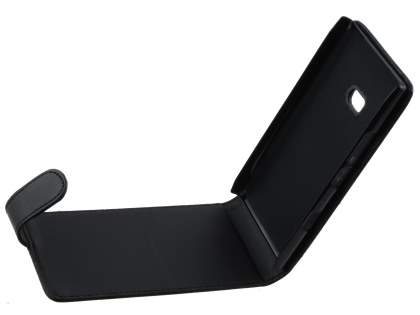 Nokia Lumia 900 Synthetic Leather Flip Case - Black