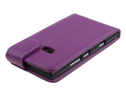 Synthetic Leather Flip Case for Nokia Lumia 900 - Purple