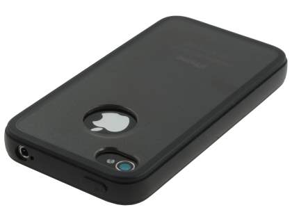 iPhone 4S Dual-Design Case - Black/Frosted Grey