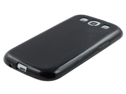 Frosted TPU Case for Samsung I9300 Galaxy S3 - Classic Black