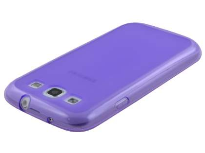 Frosted TPU Case for Samsung I9300 Galaxy S3 - Purple