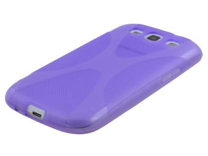 X-Case for Samsung I9300 Galaxy S3 - Frosted Purple/Purple
