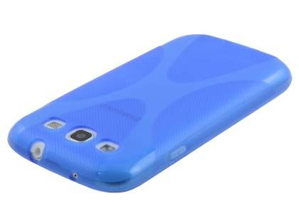 Samsung I9300 Galaxy S3 X-Case - Frosted Blue/Blue
