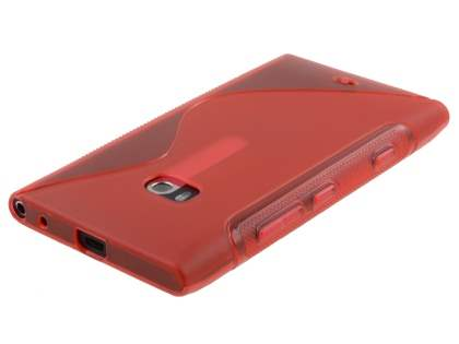 Wave Case for Nokia Lumia 900 - Frosted Red/Red