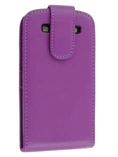 Samsung I9300 Galaxy S3 Synthetic Leather Flip Case - Purple