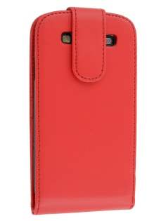 Synthetic Leather Flip Case for Samsung I9300 Galaxy S3 - Red