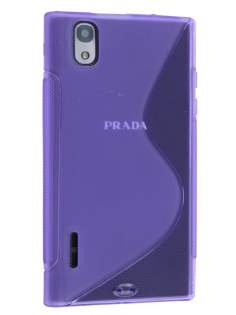 Wave Case for LG Prada 3.0 - Frosted Purple/Purple Soft Cover