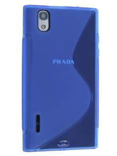 Wave Case for LG Prada 3.0 - Frosted Blue/Blue Soft Cover