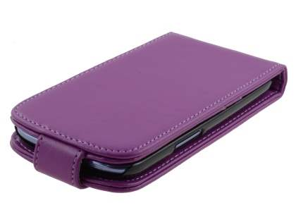 Synthetic Leather Flip Case for Samsung I9300 Galaxy S3 - Purple