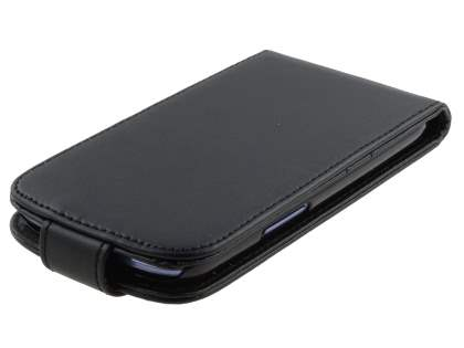 Samsung I9300 Galaxy S3 Synthetic Leather Flip Case - Classic Black