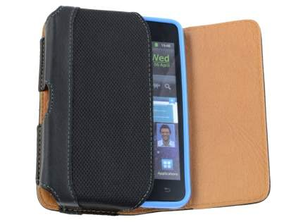Samsung Galaxy S2 Synthetic Leather Belt Pouch (Bumper Case Compatible)