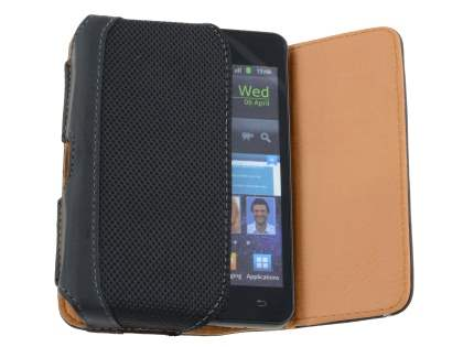 Samsung Galaxy S2 Synthetic Leather Belt Pouch (Naked Phone Only)