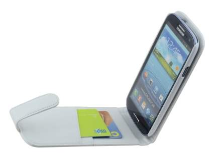 Samsung I9300 Galaxy S3 Synthetic Leather Flip Case - Pearl White