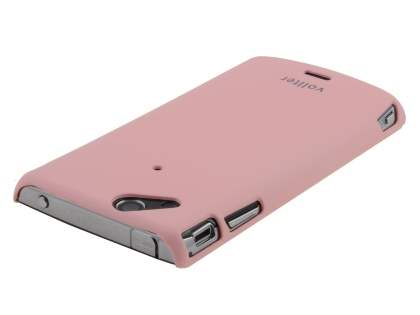 Vollter Ultra Slim Rubberised Case plus Screen Protector for Sony Ericsson XPERIA Arc/Arc S - Baby Pink