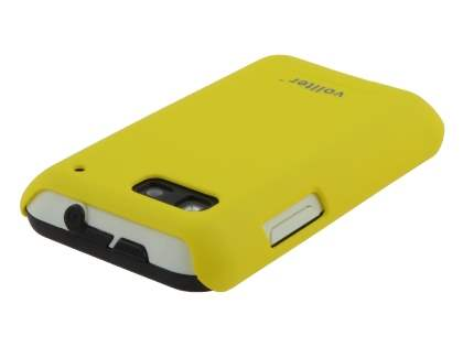 Vollter Motorola DEFY Ultra Slim Case plus Screen Protector - Canary Yellow