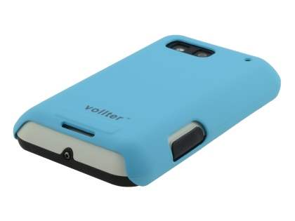 Vollter Motorola DEFY Ultra Slim Case plus Screen Protector - Sky Blue
