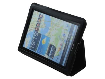 Ultra-Slim Synthetic Leather Case for Samsung Galaxy Tab 7.7 P6800 - Black