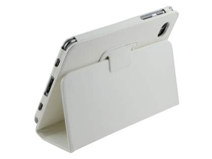 Samsung Galaxy Tab 7.7 P6800 Synthetic Leather Flip Case with Fold-Back Stand - Pearl White