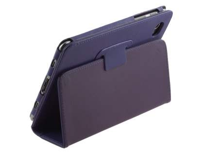 Synthetic Leather Flip Case with Fold-Back Stand for Samsung Galaxy Tab 7.7 P6800 - Purple Leather Flip Case