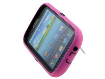 Defender Case with Stand for Samsung I9300 Galaxy S3 - Pink/Black