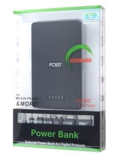 FOST 10000 mAh PowerBank Portable Battery Charger - Black