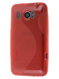 HTC Titan II 4G Wave Case - Frosted Red/Red Soft Cover