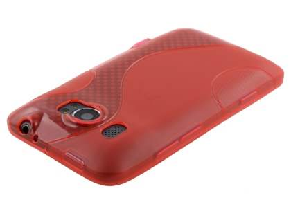 HTC Titan II 4G Wave Case - Frosted Red/Red