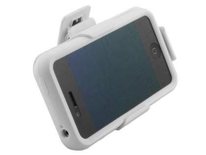 iPhone 4/4S Cocases All-In-One Belt Frame, Viewing Stand & Removable Tough Case - Pearl White