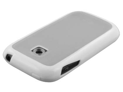 LG P690 Optimus Spirit Dual-Design Case - White/Frosted Clear