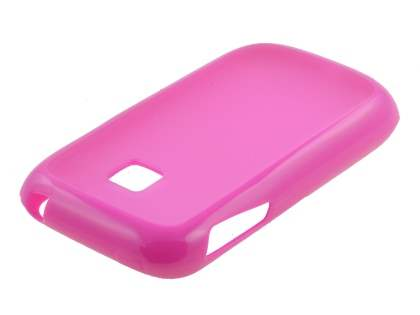 Dual-Design Case for LG P690 Optimus Spirit - Pink/Frosted Pink