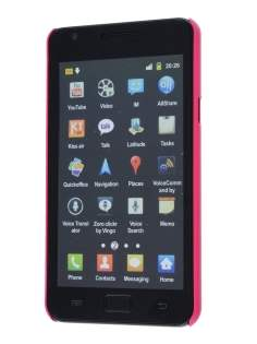 Samsung I9100 Galaxy S2 Slim Glossy Case plus Screen Protector - Hot Pink
