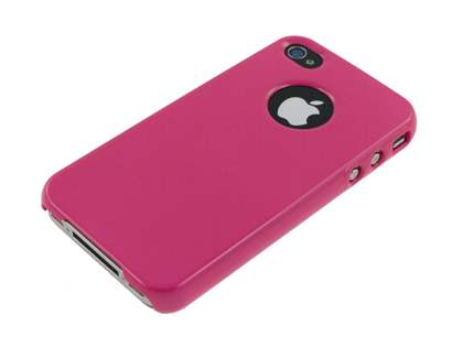 Slim Glossy Case plus Screen Protector for iPhone 4 Only - Pink