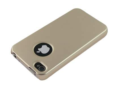 Slim Glossy Case plus Screen Protector for iPhone 4 Only - Gold