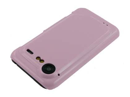 Slim Glossy Case plus Screen Protector for HTC Incredible S - Baby Pink