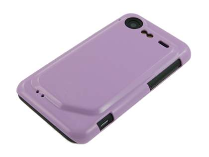 Slim Glossy Case plus Screen Protector for HTC Incredible S - Light Purple