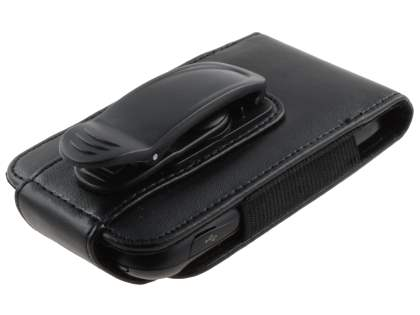 LG P690 Optimus Spirit Synthetic Leather Belt Pouch - Classic Black