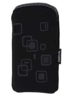 Stylish Protective Textile Sleeve for Nokia C6 - Classic Black Sleeve