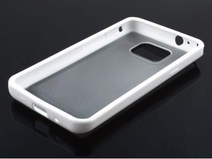 Samsung I9100 Galaxy S2 Dual-Design Case - White/Frosted Clear