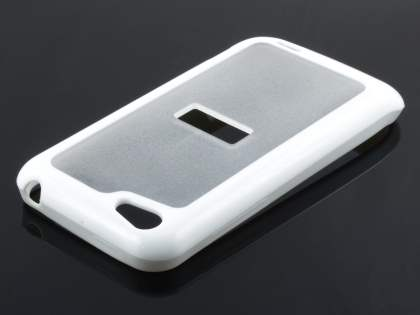 HTC One V Dual-Design Case - White/Clear