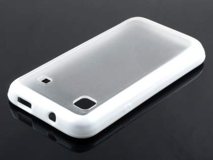 Samsung I9000 Galaxy S Dual-Design Case - White/Frosted Clear