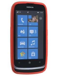 Wave Case for Nokia Lumia 610 - Frosted Red/Red