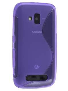 Nokia Lumia 610 Wave Case - Frosted Purple/Purple