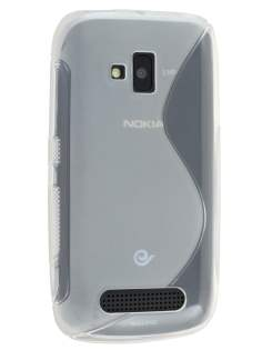 Wave Case for Nokia Lumia 610 - Frosted Clear/Clear Soft Cover