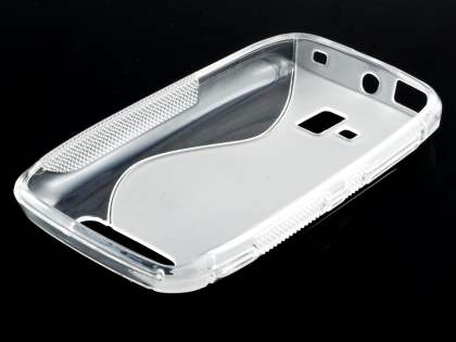 Nokia Lumia 610 Wave Case - Frosted Clear/Clear