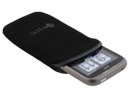 Stylish Protective Textile Sleeve for HTC Wildfire G8 - Classic Black
