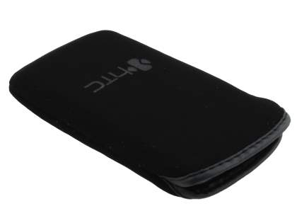 Stylish Protective Textile Sleeve for HTC Salsa - Classic Black
