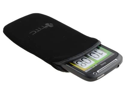 HTC Desire S Stylish Protective Textile Sleeve - Classic Black