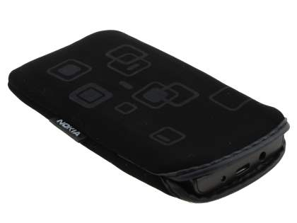 Stylish Protective Textile Sleeve for Nokia X3-02 - Classic Black