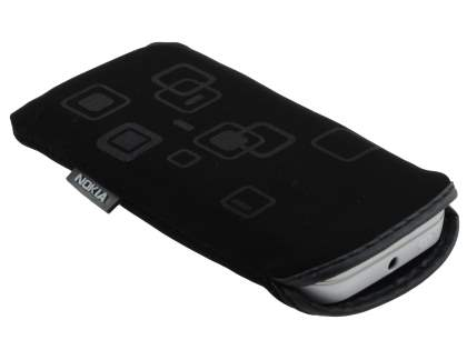 Stylish Protective Textile Sleeve for Nokia N97 mini - Classic Black
