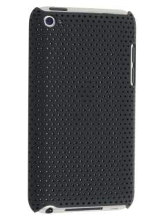 Slim Mesh Case for iPod Touch 4 - Black Hard Case